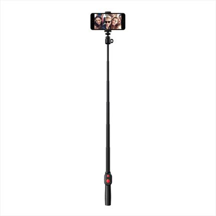 Compact selfie-stick with Bluetooth shutter remote control