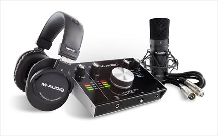 M-AUDIO VOCAL STUDIO PRO BUNDLE (MTRACK2X2, MICROFONO, AURICULARES HDH40